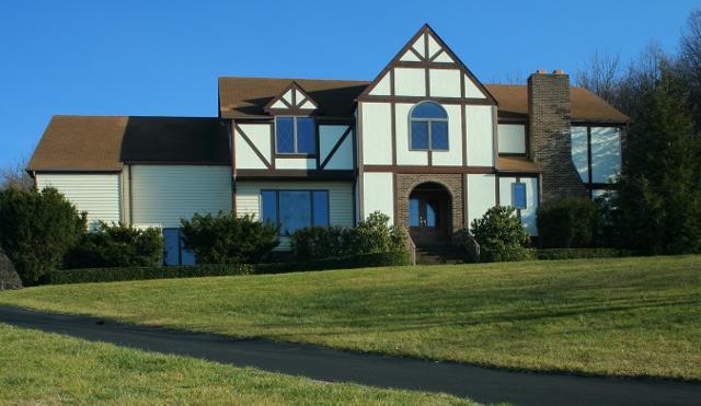 An English Tudor Style Home In Warren County Va Brick Colonial New Custom Construction