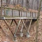 Walking Bridge and Wooden Vehicle Bridge